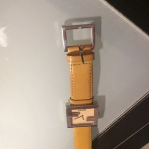 Fendi Watch Yellow Silver